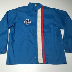 Vintage 70s GE General Electric Nylon Windbreaker